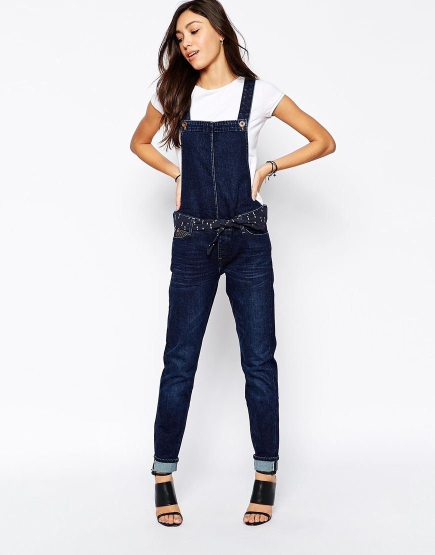 788fa56f0fb11 Details about NEW LEE BIB RELAXED TAPERED SLIM BOYFRIEND DUNGAREES SELVEDGE JEANS  DENIM S M L