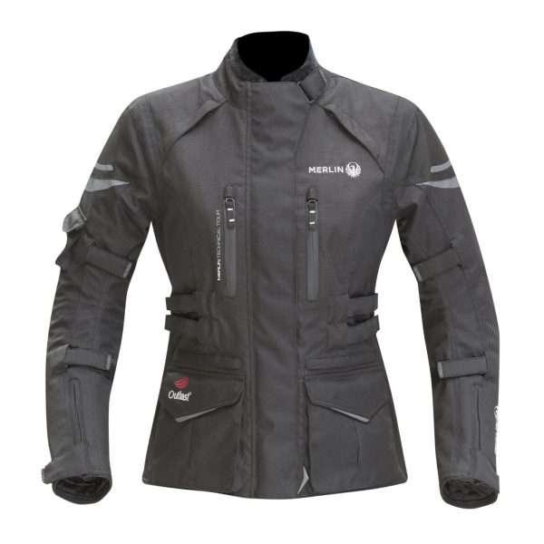Merlin Gemini Ladies Outlast Waterproof  WP Motorcycle Textile Trousers Black