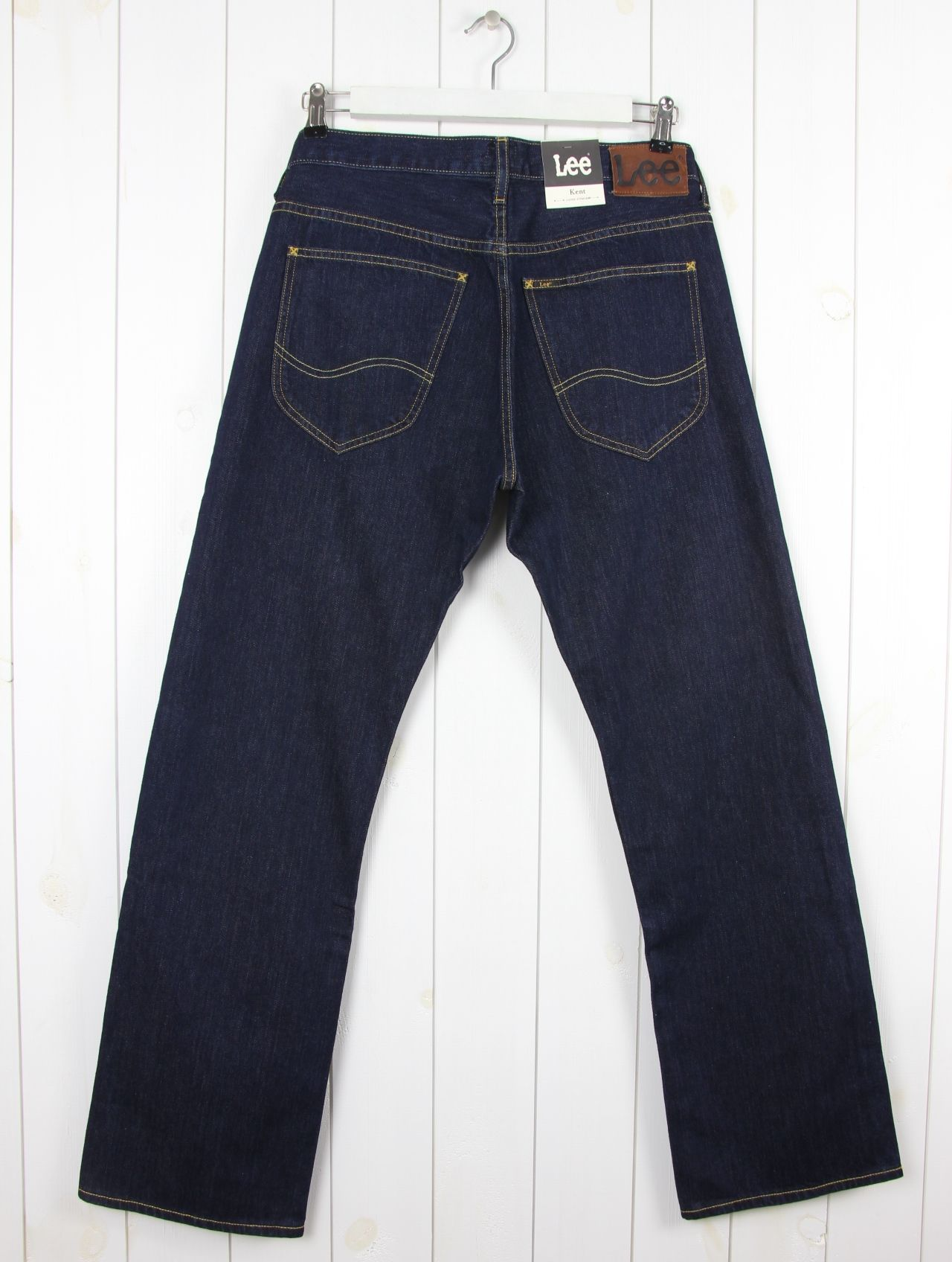 Lee Brooklyn Straight Leg Zip Fly Jeans Dunkel Blau