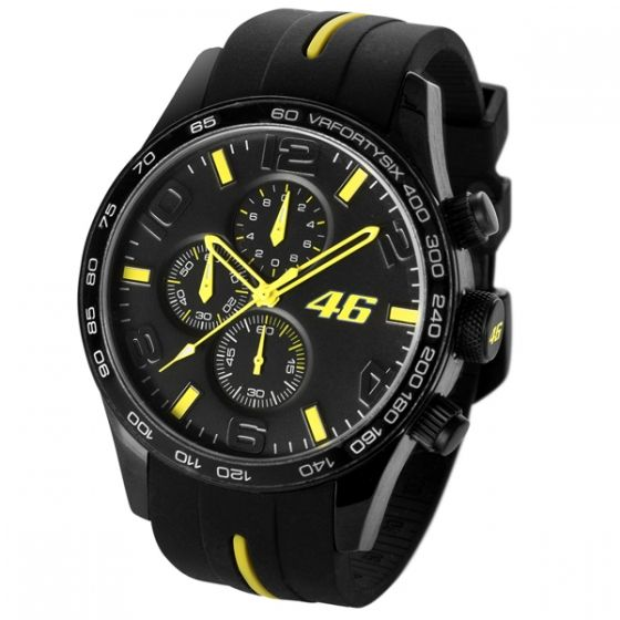 official vr46 valentino rossi water resistant wrist watch matt black fluo ebay. Black Bedroom Furniture Sets. Home Design Ideas