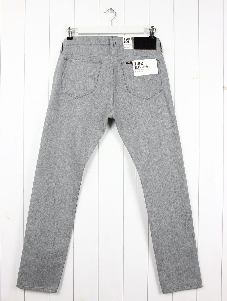 LEE 101 RIDER 11oz JEANS SELVAGE FABRIC DENIM TAPERED SLIM  FIT LUKE /_ ALL SIZES