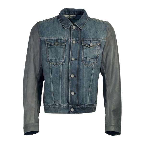 3b574701d293 Dettagli su Richa pelle Diesel & Jeans Motocicletta Copertura Nero Denim Fba