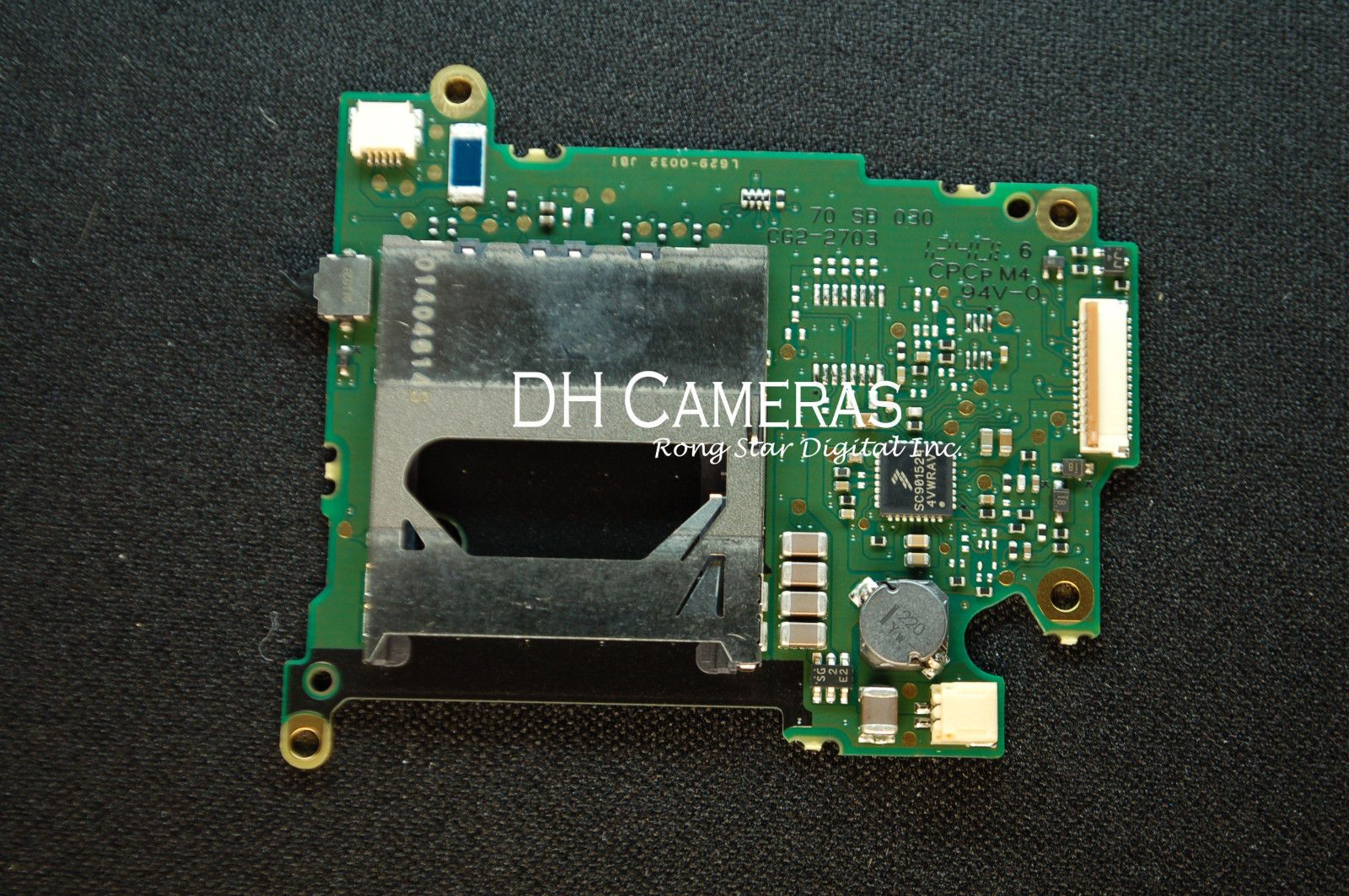 Original Part for Canon 550D EOS Rebel T2i Kiss X4 SD Memory Card Slot PCB Board