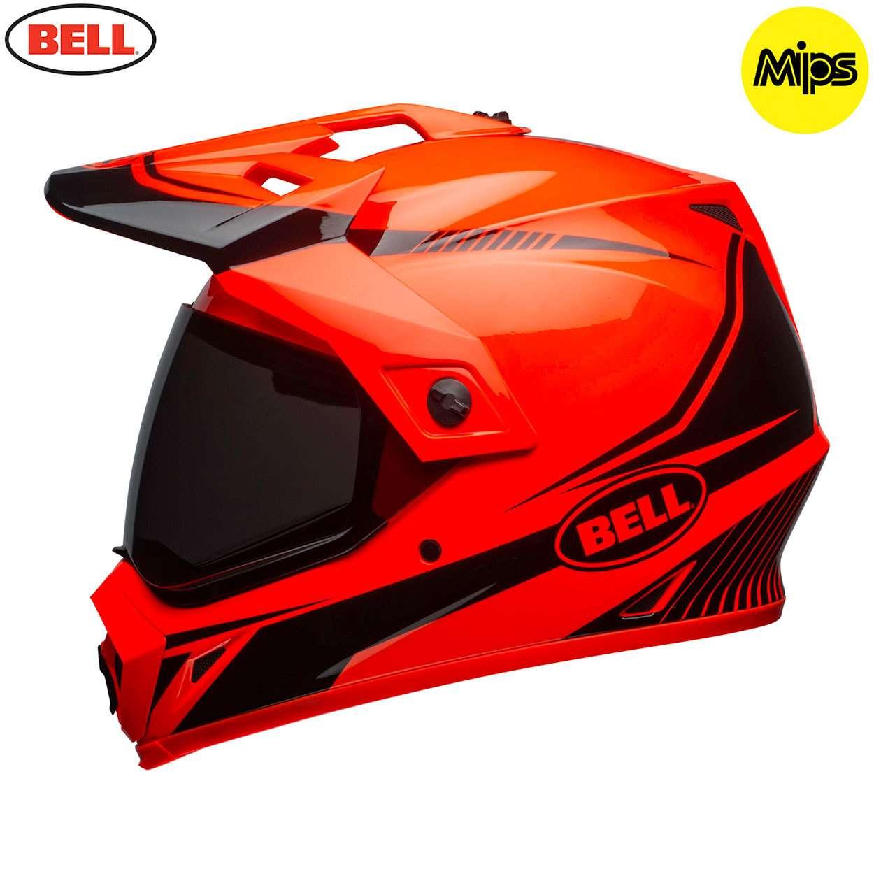 Bell MX 2018 MX-9 Adventure MIPS Motorcycle Motorbike Helmet Torch Orange//Blk