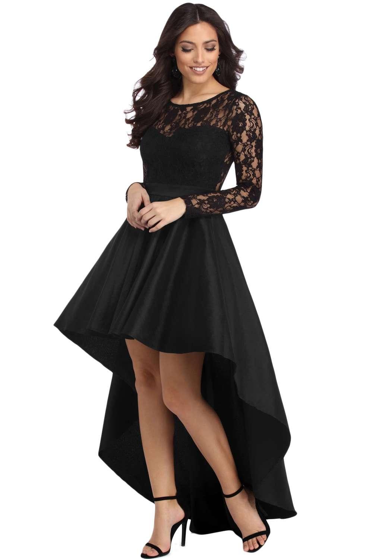 eff622601d1f Vestito donna lungo pizzo abito elegante sera cerimonia maniche lunghe  DS61910