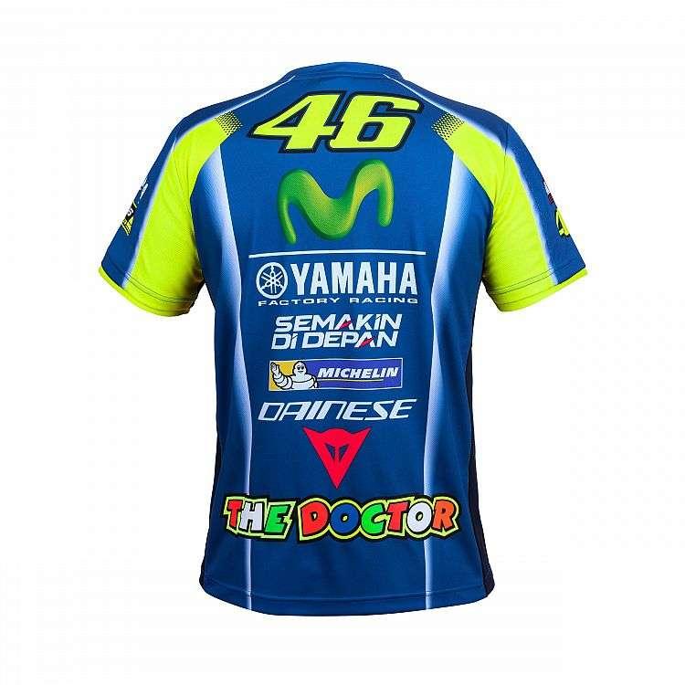 71c522dd7ab4 Officiel VR46 Moto Valentino Rossi Yamaha Motogp T-Shirt - Bleu