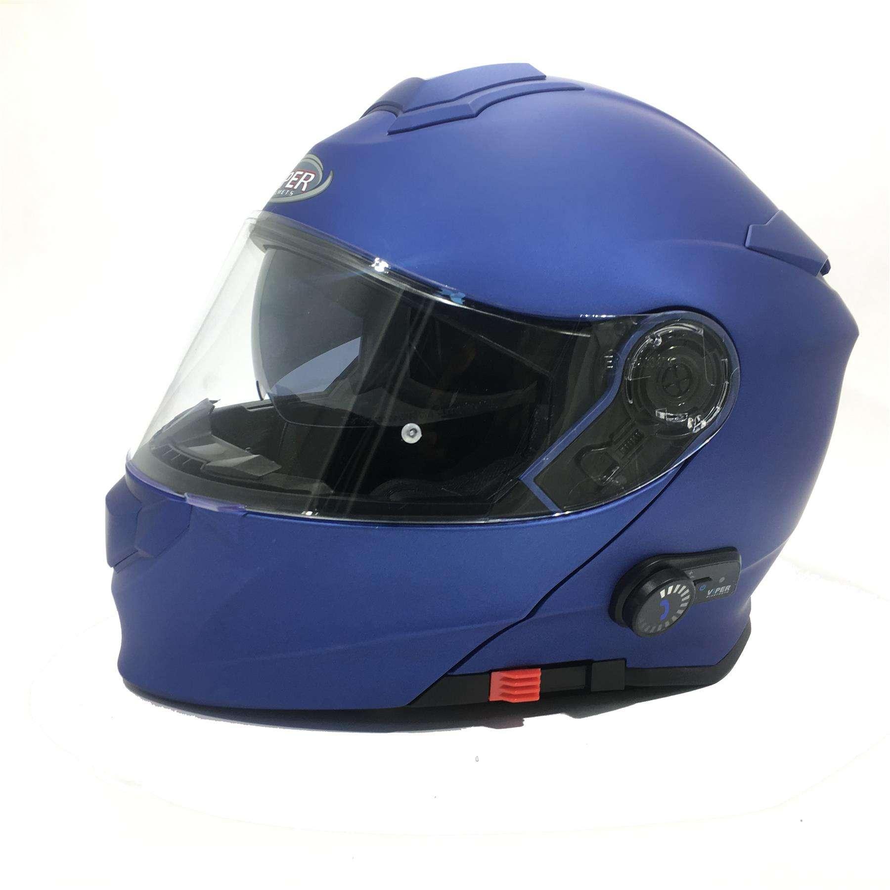 VIPER RS-V171 BLUETOOTH FLIP FRONT MOTORCYCLE HELMET SPLINE MEDIUM