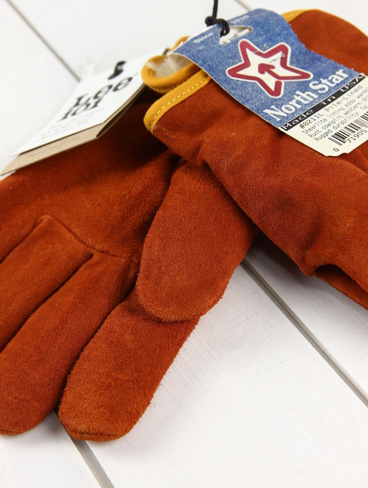 NEW LEE 101 & NORTH STAR Made In USA LEATHER GLOVES LINED