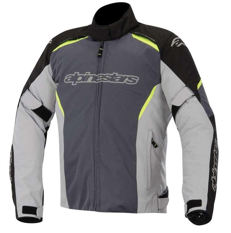 grande vendita 06fe5 efa16 Dettagli su Alpinestars Gunner Impermeabile Giacca Moto in Tessuto -  Nero/Grigio/Giallo