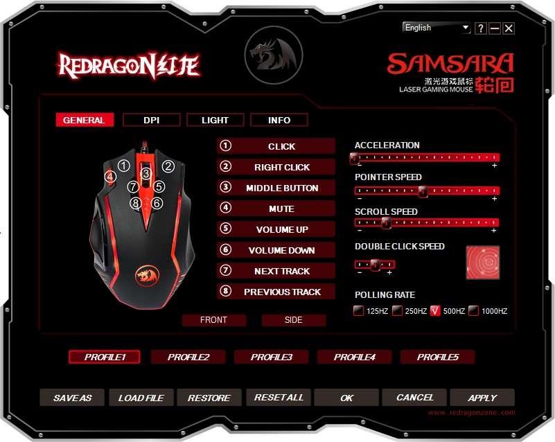 REVIEW] Mouse Redragon Samsara 16 400 DPIs -
