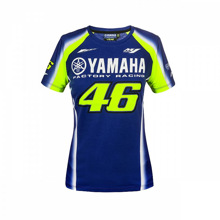 Details about VR46 Valentino Rossi MotoGP Womens Yamaha 46 Racing Official T -Shirt - Blue 732b24ff0fe4c