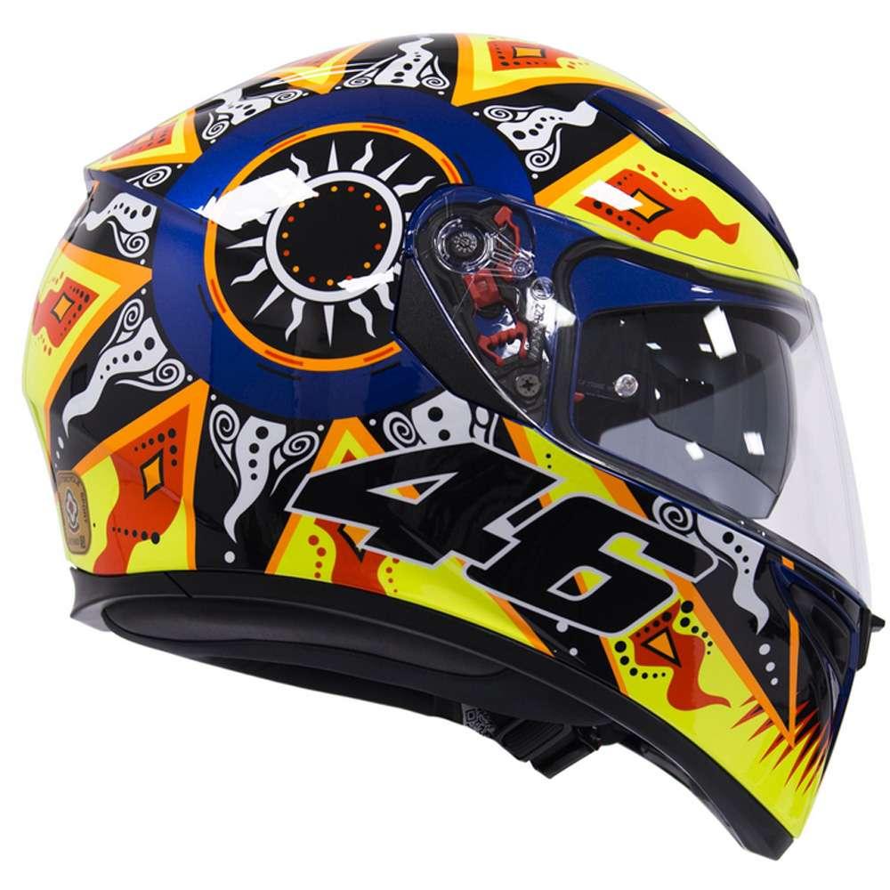 6c90d690d0 AGV K3 SV Valentino Rossi 2002 MotoGP Sun   Moon Motorcycle Helmet - DP
