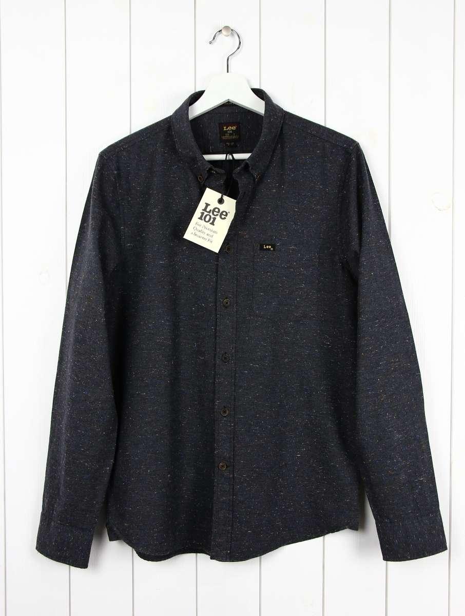 Lee Pocket Mele Tee Shirt Regular Fit Grey Mele RRP £34.99