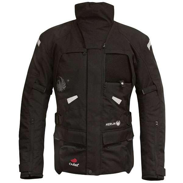 Merlin Peake Outlast Waterproof Textile Motorcycle Motorcycle Jacket Black