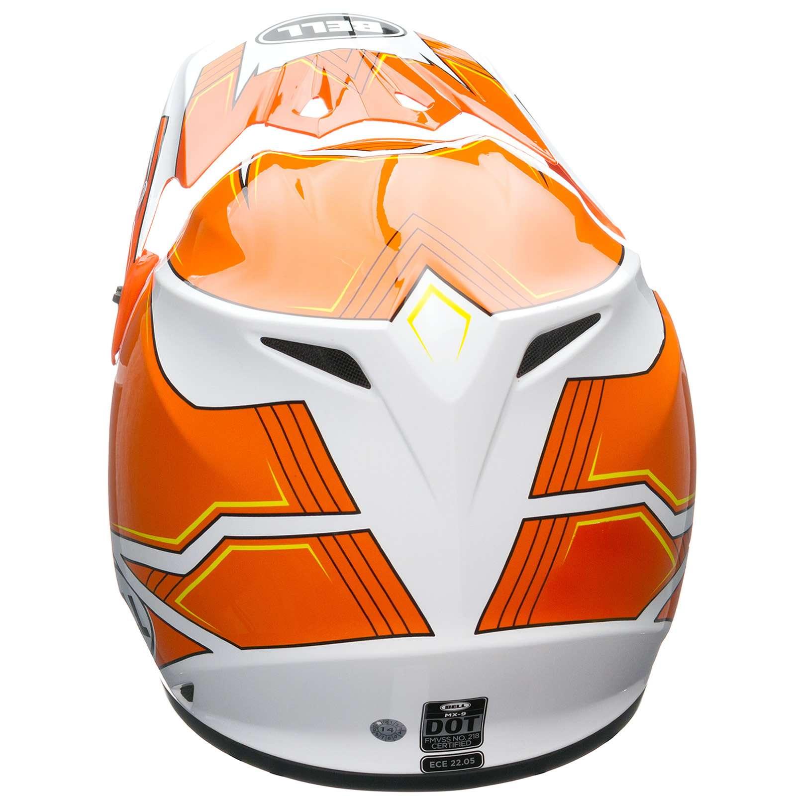 Details about Bell MX-9 MX9 Motocross MX BMX Enduro Full Face Helmet -  Blockade Orange