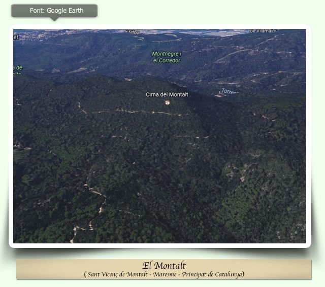 Montalt a Google Earth