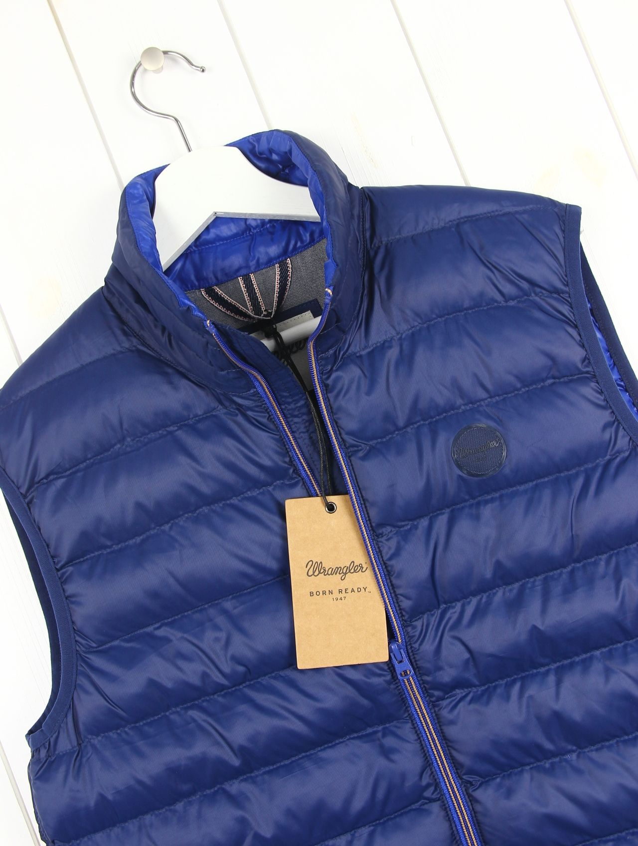 Wrangler Sherpa Jacket Born Ready Blue Giacca Uomo