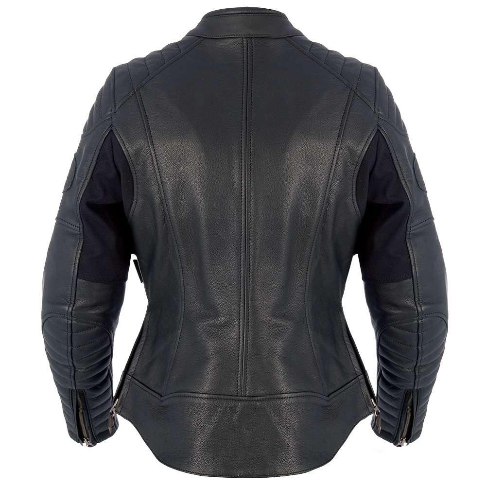 cba63e900cc Oxford Beckley mujeres señoras Premium motos moto chaqueta de cuero - negro