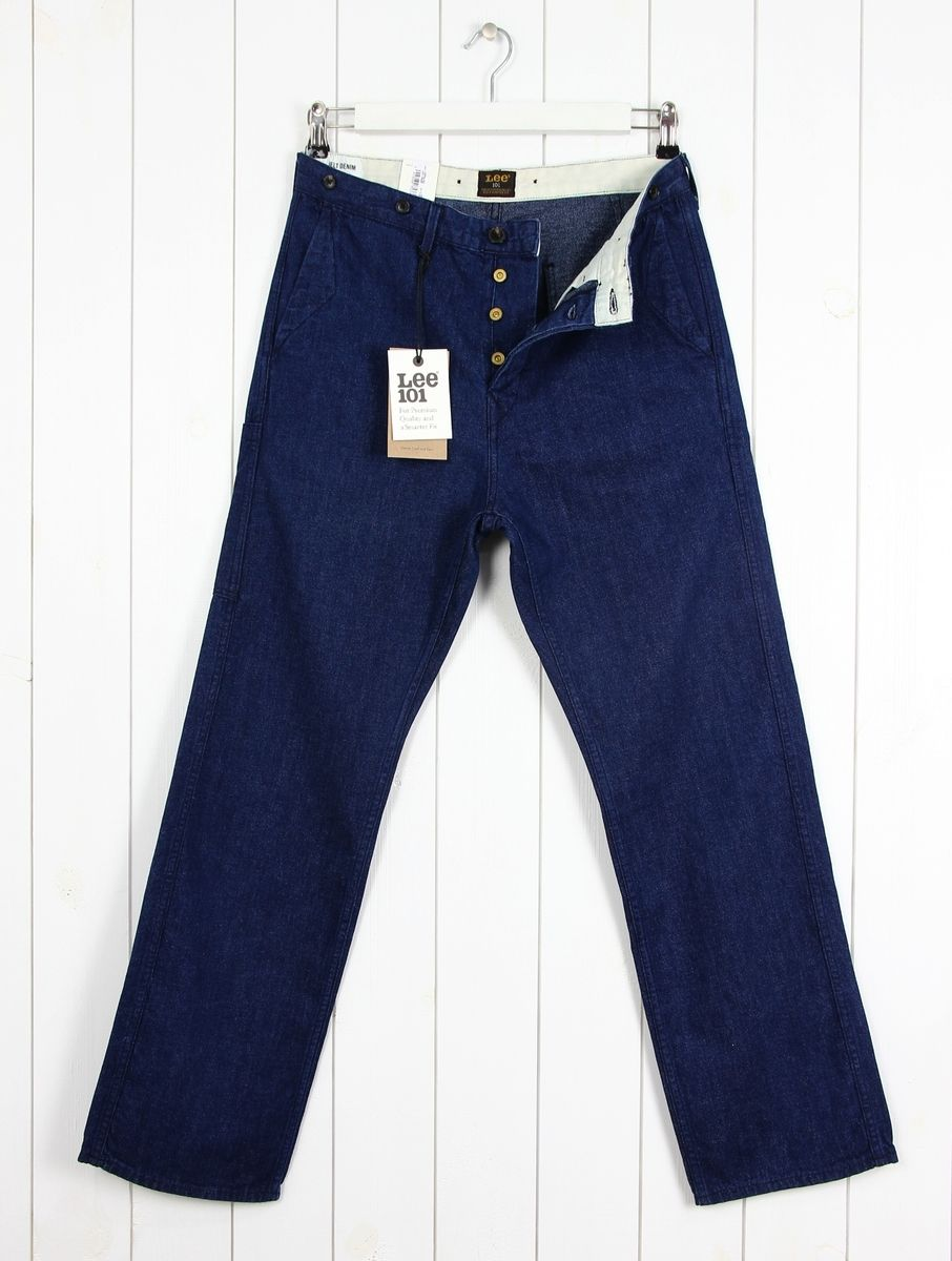f0768abd0ac Details about NEW LEE 101 WORKER CHINO 10OZ JAPAN JELT DENIM JEANS STRAIGHT  FIT ALL SIZES