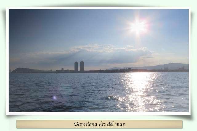 Barcelona des del mar