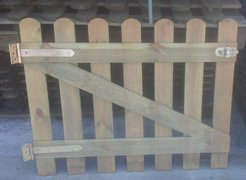 Cancelletto in legno di pino impregnato l100xh80 cm per for Cancelli di legno per giardino
