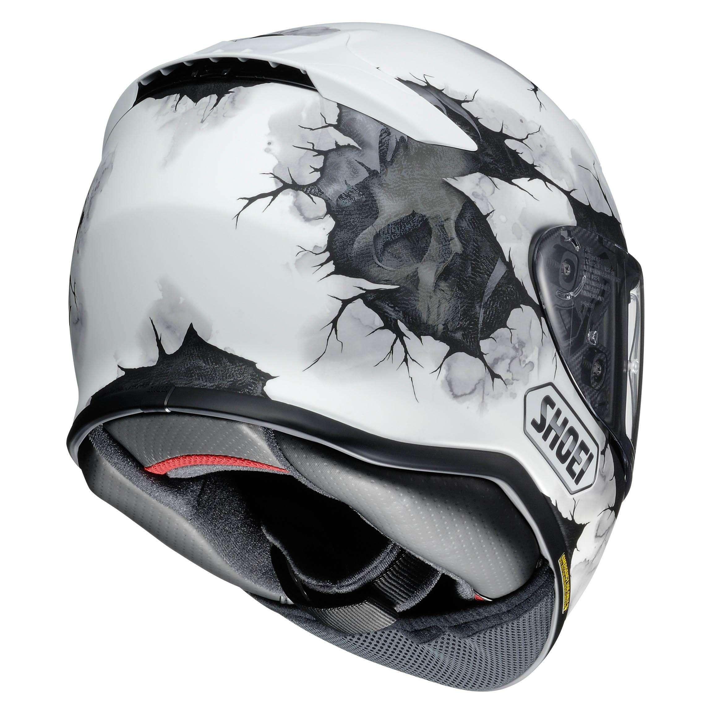 d609a641 Shoei NXR Full Face Motorcycle Helmet Ruts TC 6 White X-SMALL ...
