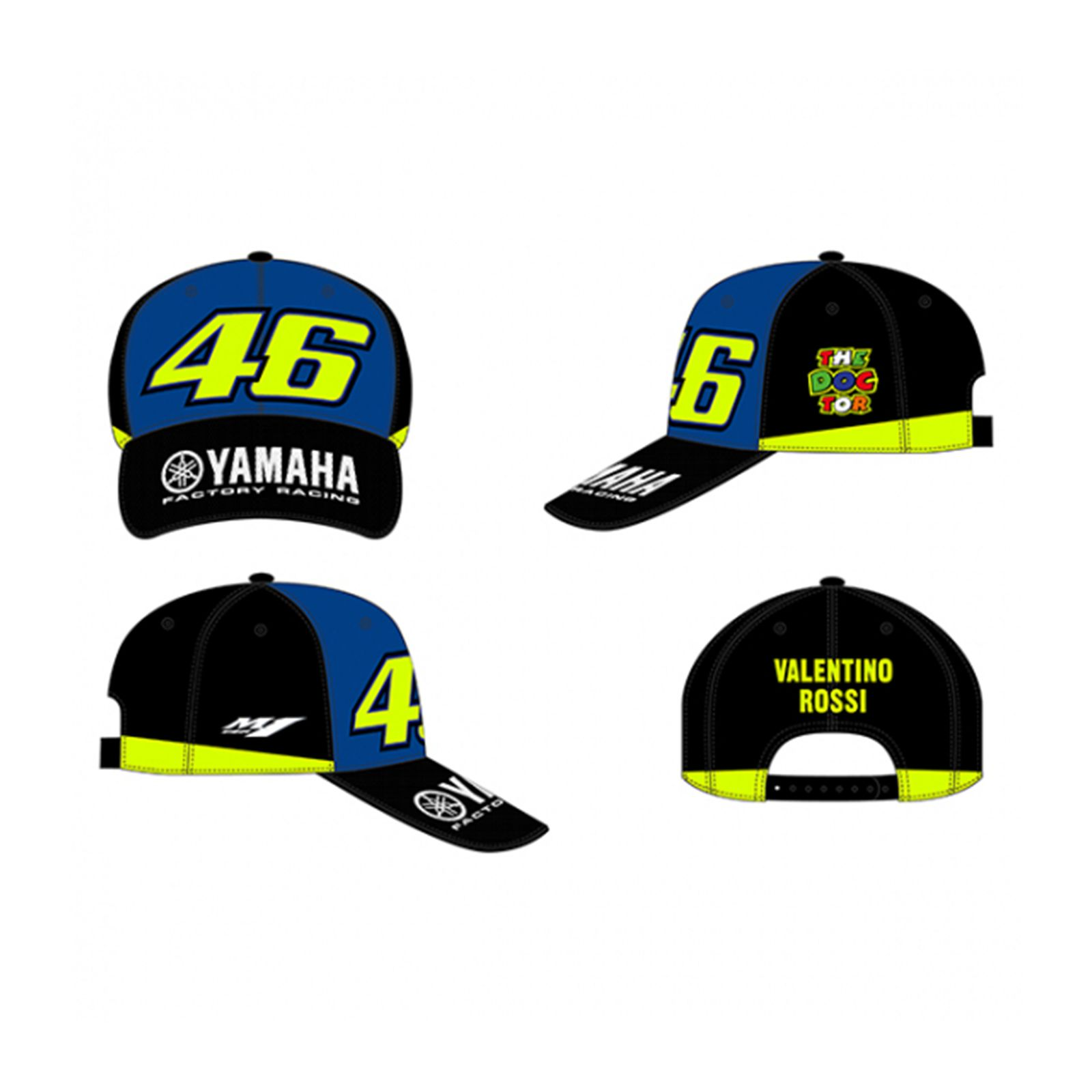 ac2ab1202 Details about VR46 Valentino Rossi 46 Yamaha Adjustable Cap - Racing Blue  Royal
