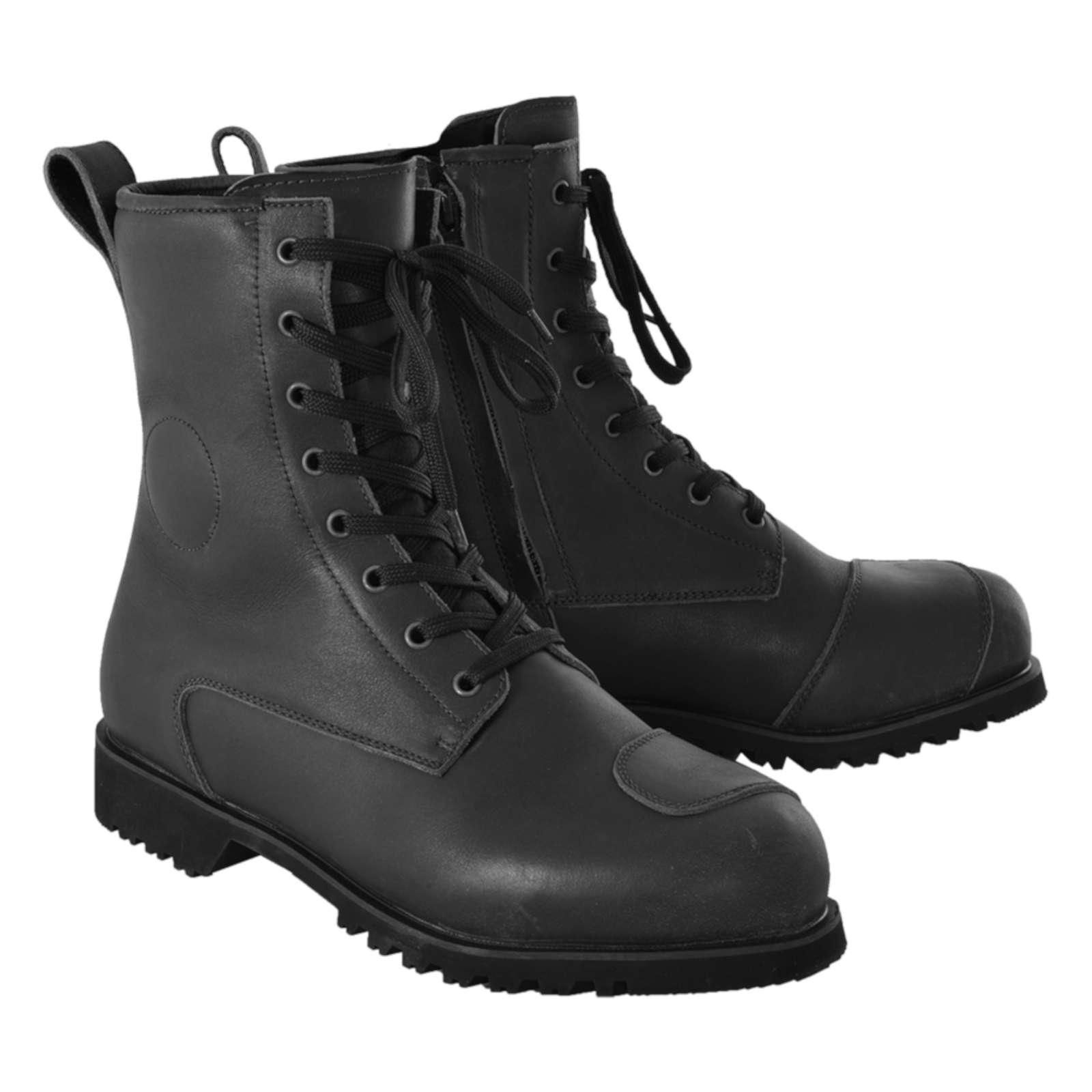 /Black/ /Black Oxford Cruiser Waterproof Leather Motorcycle Boots/ UK 18