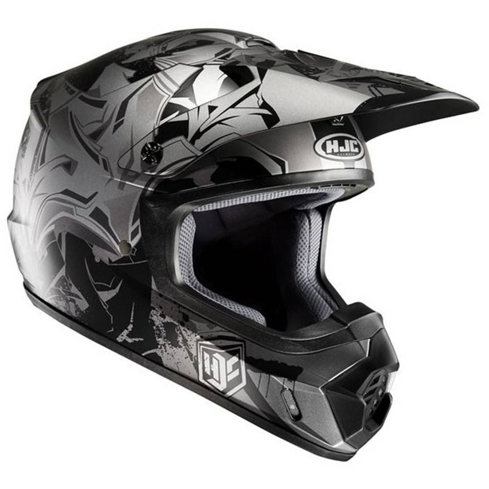 HJC CS-MX 2 Graffed Replacement Visor Peak Black//Silver MC-5