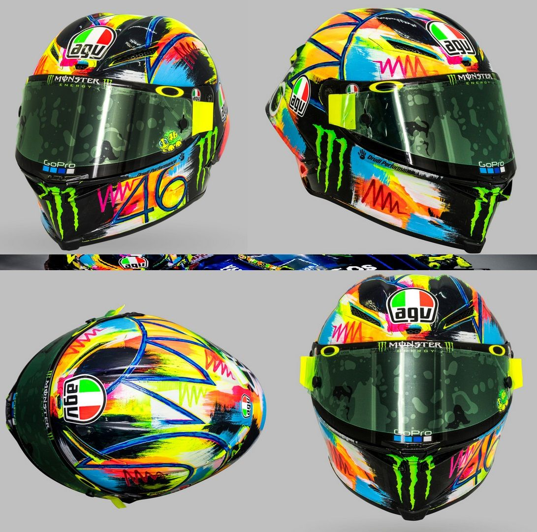 agv pista gp r rossi 2019 winter test motorcycle helmet. Black Bedroom Furniture Sets. Home Design Ideas