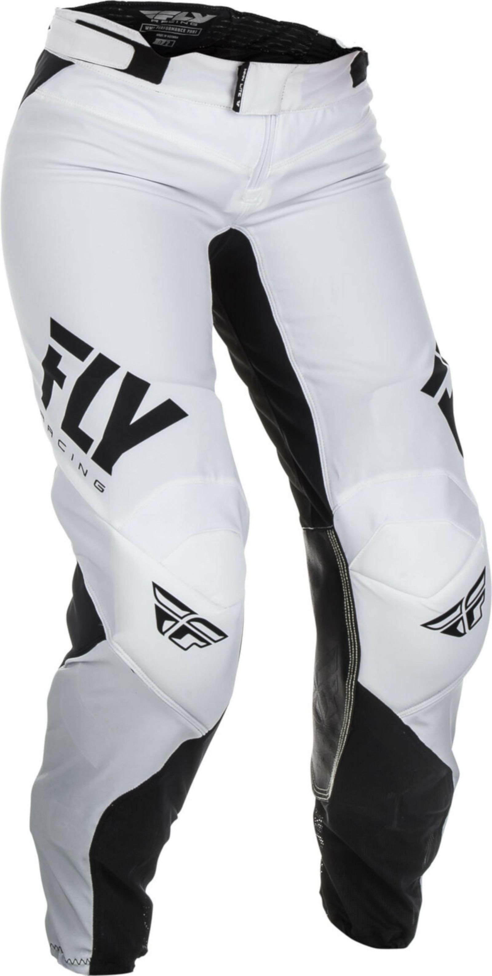 Fly Racing Ligero Mujer Motocross Caminos Mx Pantalones Blanco Negro Ebay