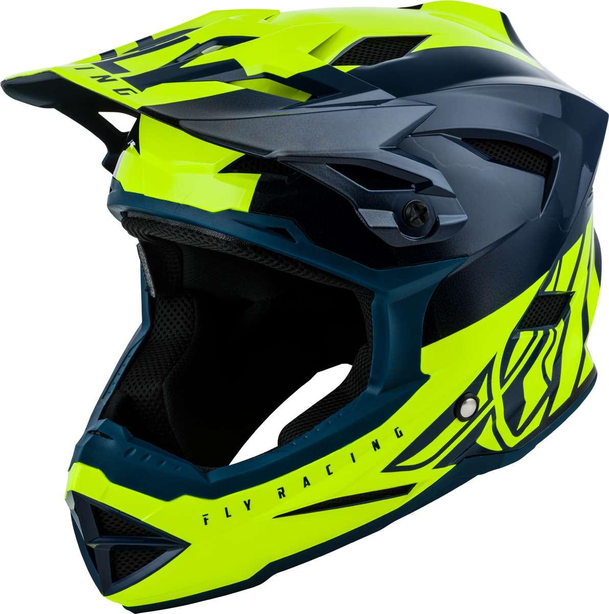Hi Vis Fly Racing 2019 Adult Default Dither MTB Downhill BMX Helmet Black