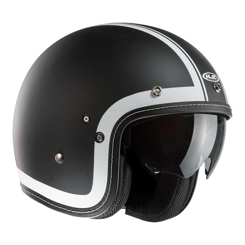 Heritage Black HJC FG-70S Open Face Motorcycle Helmet New