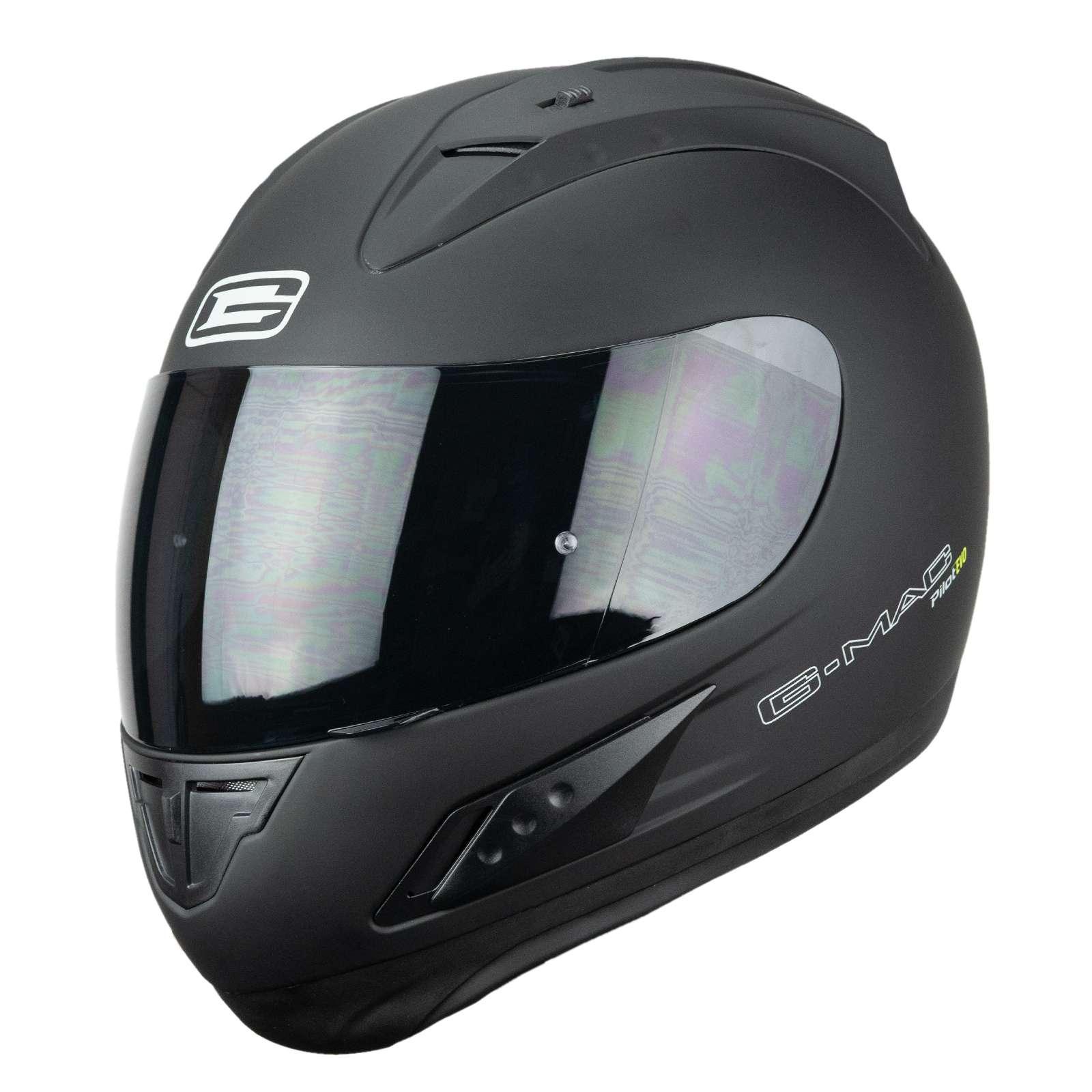 color negro mate y visera oscura Casco integral para motocicleta Nitro N3100 Blackout