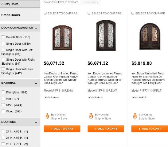 home depot price comparison