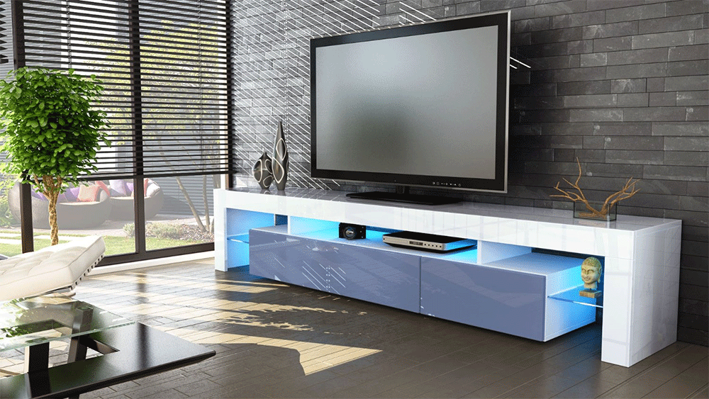 Mobile porta tv moderno vivaldi luci a led salotto soggiorno 13 ...