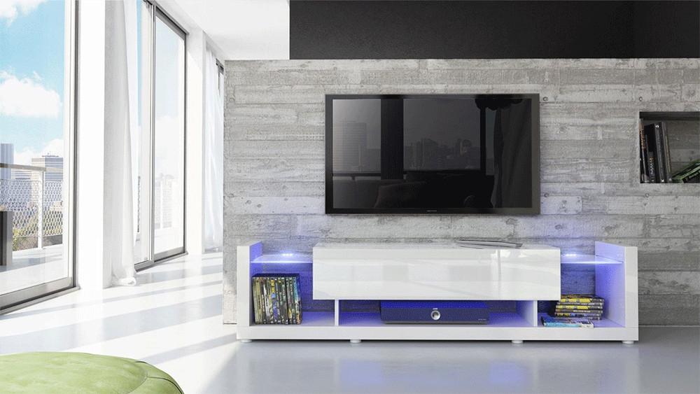Mobile soggiorno bianco lucido for Mobile tv usato