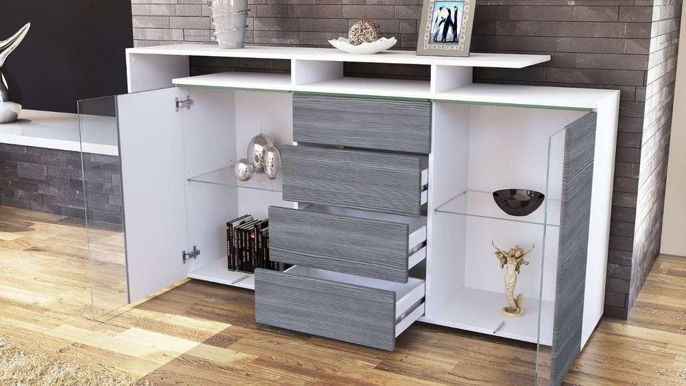 Credenza Moderna Color Tortora : Credenza bianca moderna idee di design per la casa rustify