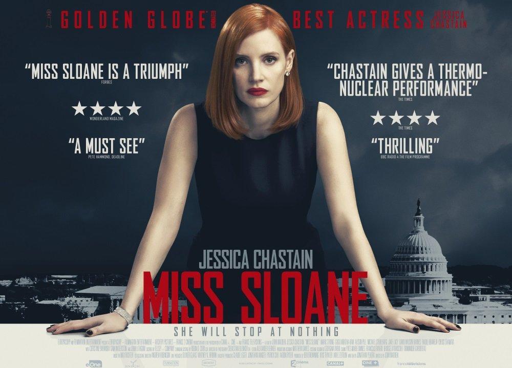 Κυρία Σλόαν (Miss Sloane) Quad Poster