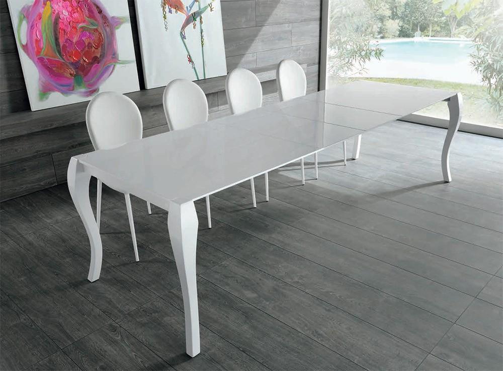 Shining om 097 bg tavolo pranzo legno laccato 2 - Tavolo da pranzo misure ...