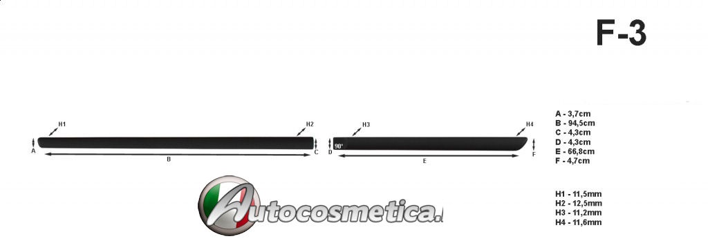 Toyota Rav 4 2012-2017/> 4 profili cornici protezione porte abs nero stampati