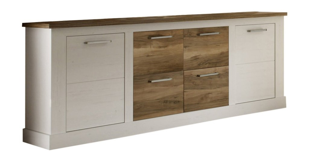madia moderna target credenza pino bianco e noce mobile. Black Bedroom Furniture Sets. Home Design Ideas