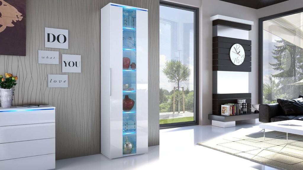vetrina a colonna bianca lucida : Soggiorno Bianca : vetrina colonna a vetro bianca e Bianca lucida ...