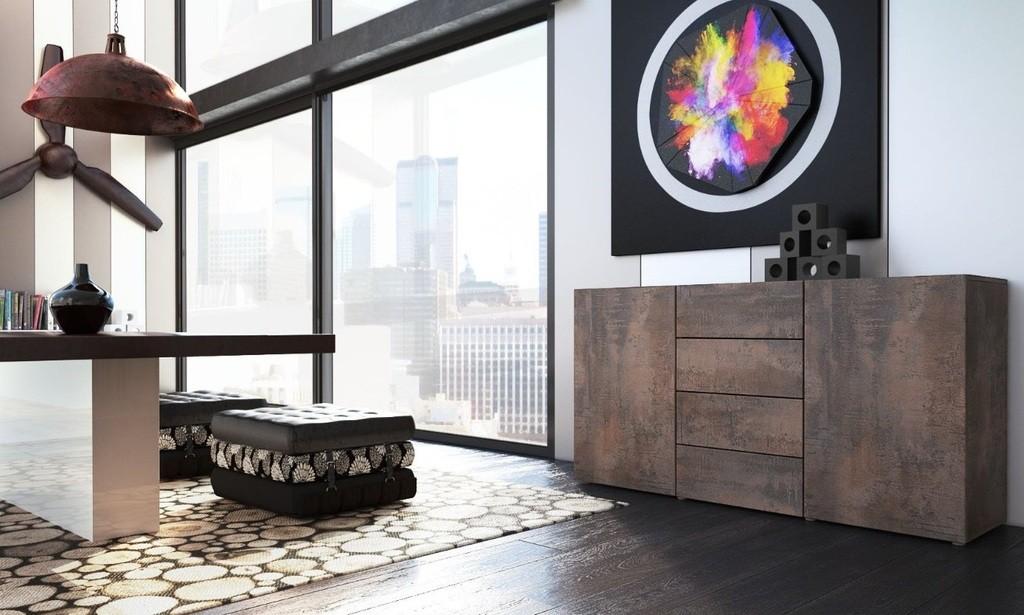 Cucina Moderna Credenza Antica : Mobile moderna madia credenza soggiorno salotto design industriale