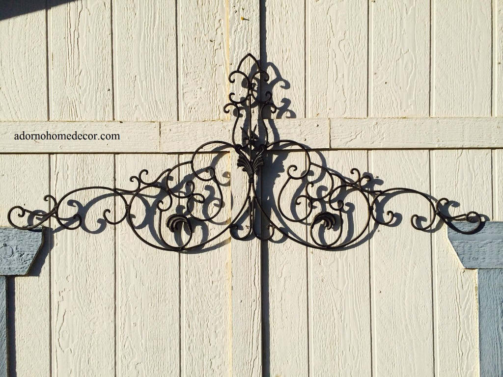 Large tuscan wrought iron metal wall decor rustic antique for Deco metal mural