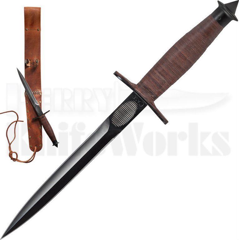 devils knives case v 42 devil brigade stiletto fixed blade knife black