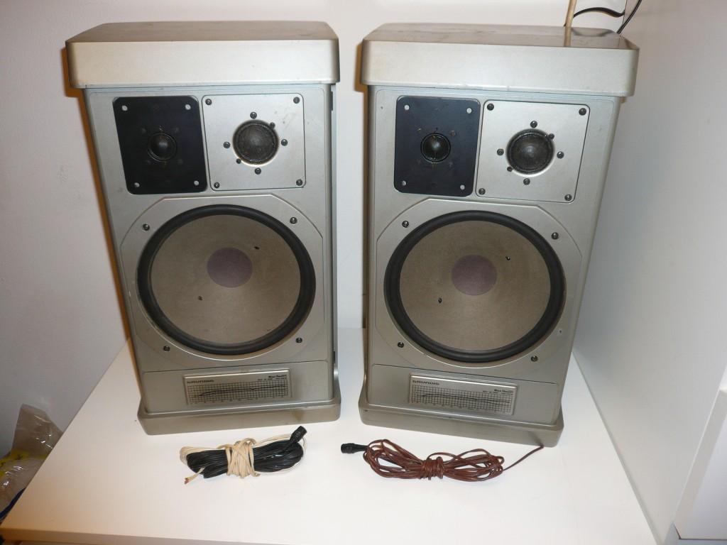 2x grundig m1500 stereo lautsprecher boxen ohne kabel defekt ebay. Black Bedroom Furniture Sets. Home Design Ideas