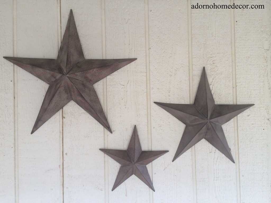 Rustic metal star set barn antique vintage texas tin wall decor rustic metal star set amipublicfo Choice Image