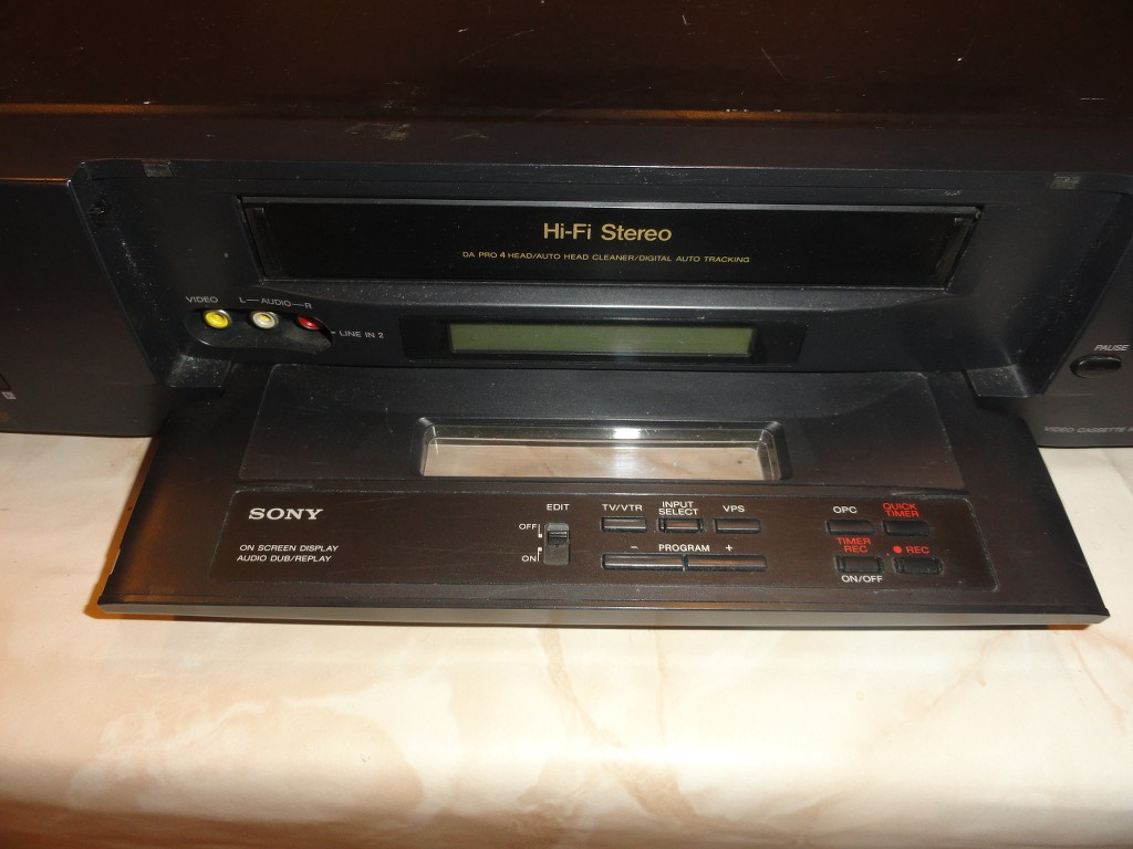 sony slve80 vhs videorecorder defekt kassette wird. Black Bedroom Furniture Sets. Home Design Ideas