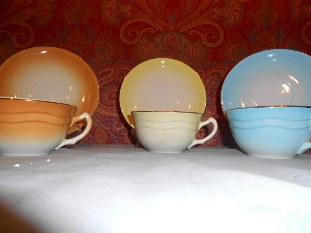 Blasone shop vintage & luxury : tris di tazze colazione the vintage